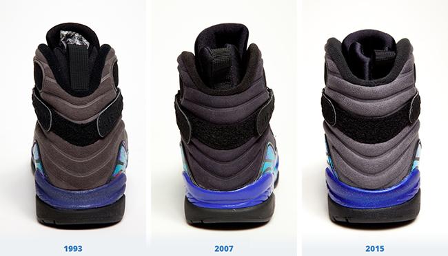 Air Jordan 8 Aqua Comparison