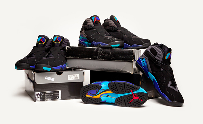 quality design c6ecf 66671 Air Jordan 8 Aqua Comparison