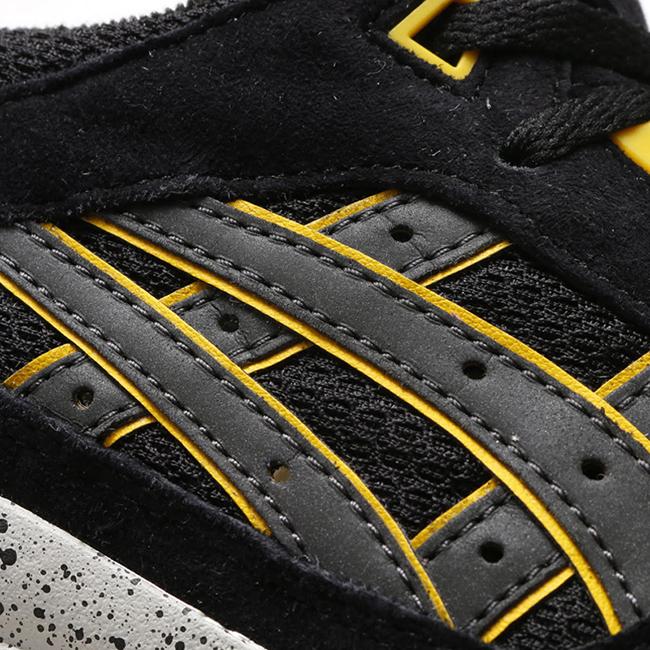 Asics Gel Respector Black Dark Grey Yellow