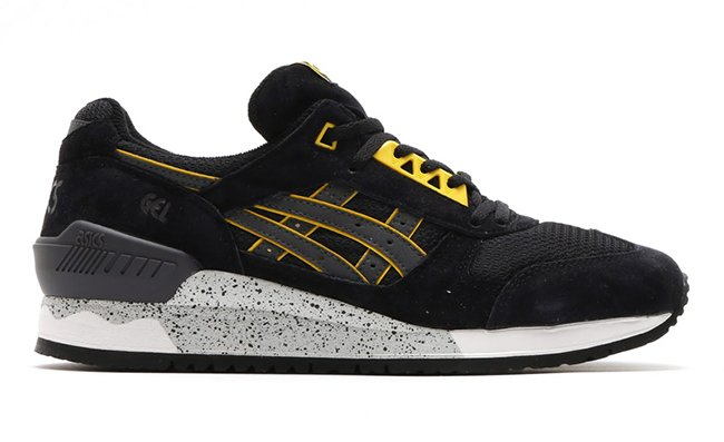 Asics Gel Respector Black Dark Grey Yellow  cd3c68526c4d