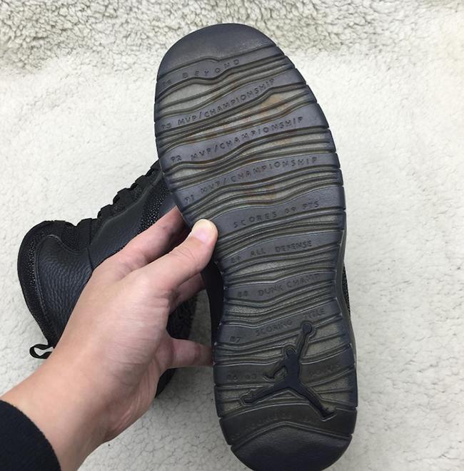 Black Air Jordan 10 OVO 2016