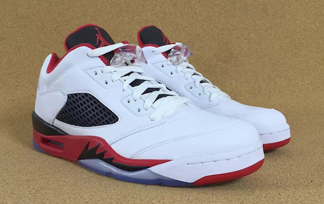 wholesale dealer 5b02e d4e13 Fire Red Air Jordan 5 Low 2016