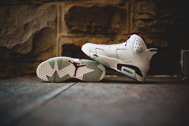 Maroon Nike Air Jordan 6 Saturday