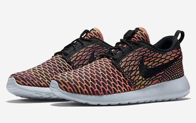 promo code 78231 c2db2 Multicolor Nike Roshe Flyknit Purple Orange