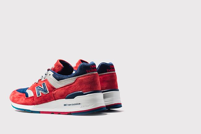 New Balance 997 Ski Red Navy