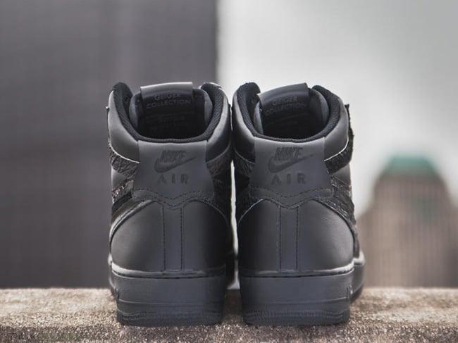 Nike Air Force 1 Black Misplaced Checks