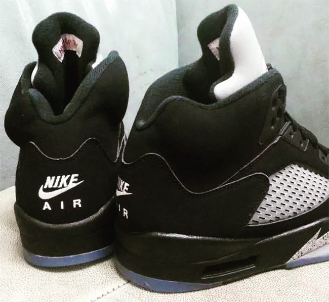 Nike Air Jordan 5 Black Metallic Silver 2016