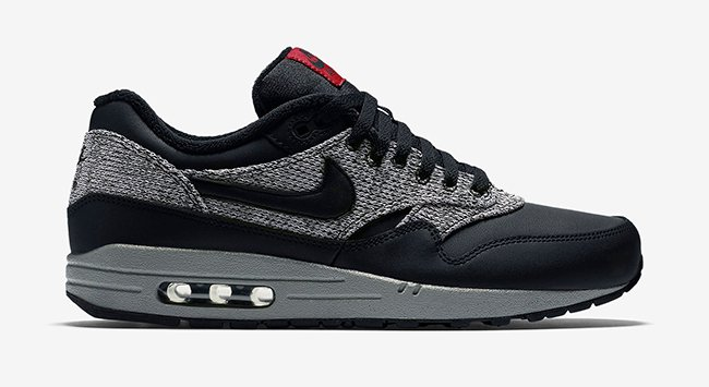 Nike Air Max 1 Essential Winter Black Grey Red