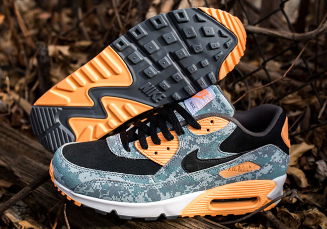 Nike Air Max 90 PRM Digi Camo Blue Peach
