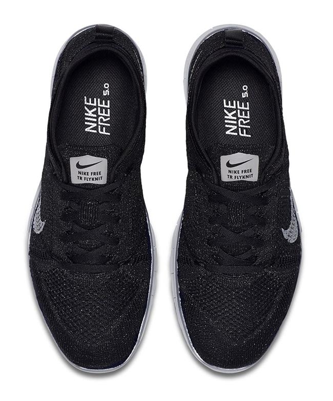 Womens Nike Free TR5 Flyknit Metallic Black