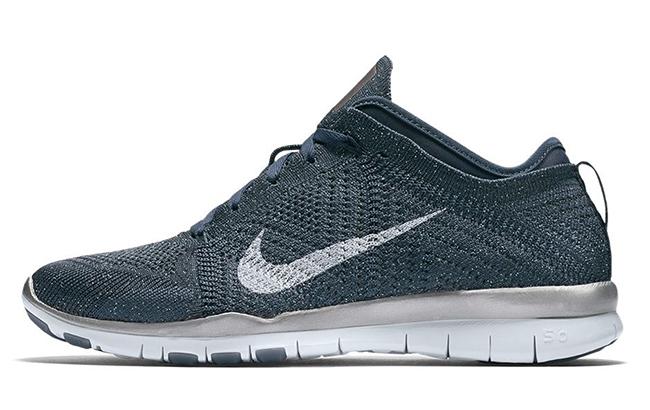 Womens Nike Free TR5 Flyknit Metallic Blue