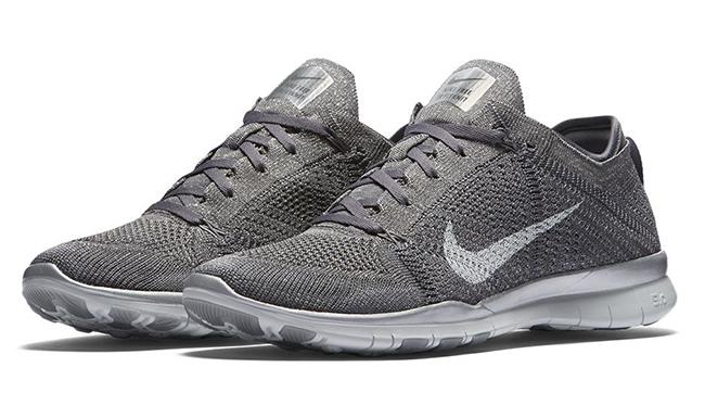 Womens Nike Free TR5 Flyknit Metallic Grey