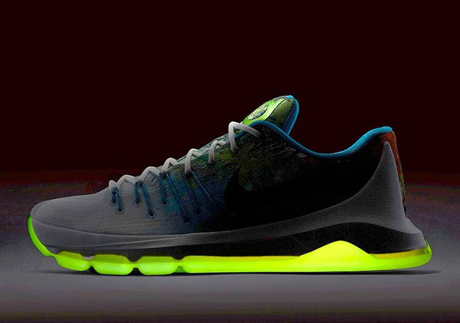 c422d630f3d0 Nike KD 8 N7 Glow in the Dark