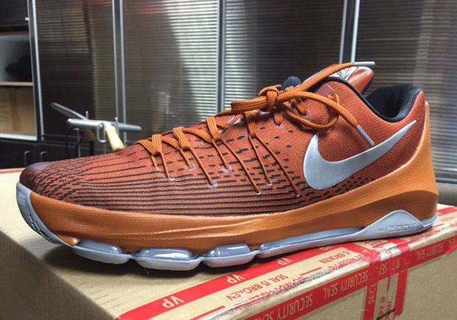 9407f442ed0c Nike KD 8 Texas Longhorns PE Burnt Orange 2016