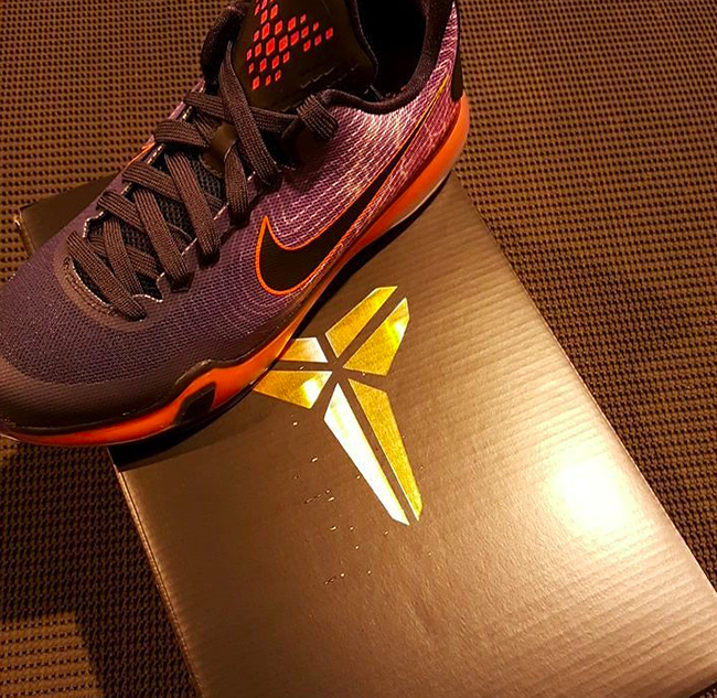 Nike Kobe 10 GS Cave Purple Hyper Orange