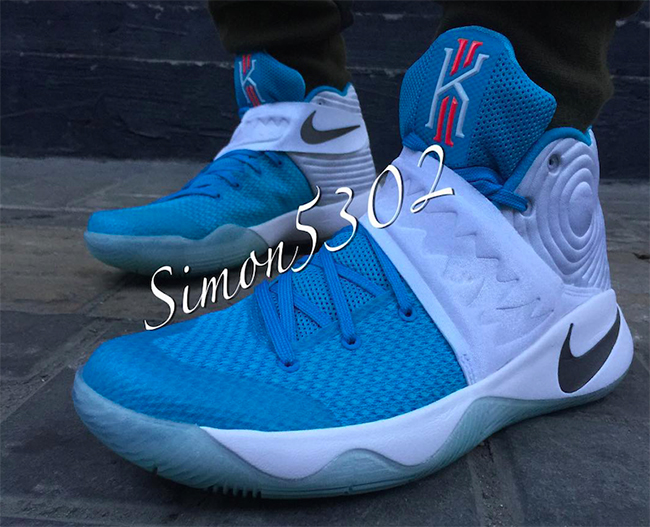 Nike Kyrie 2 White Blue Orange