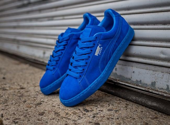puma suede iced blue