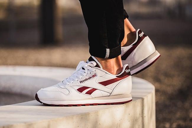 Reebok Classic Leather White Merlot | SneakerFiles