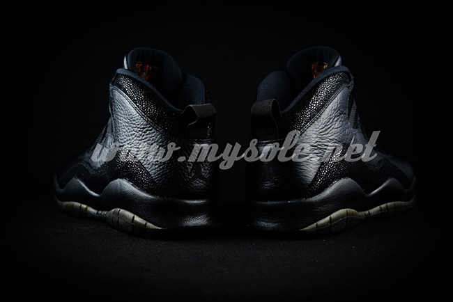 2016 Black Air Jordan 10 OVO