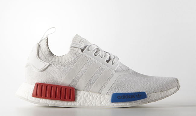Adidas Nmd White Blue Red Sneakerfiles