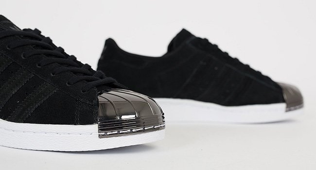 adidas superstar black 80s metal toe