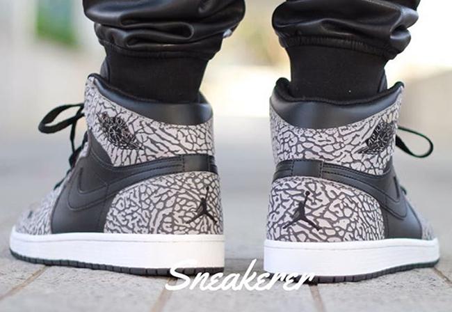 Air Jordan 1 Unsupreme Elephant Print On Feet