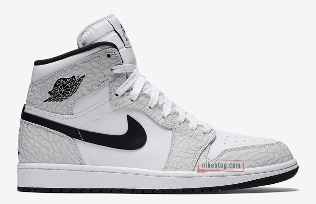 Air Jordan 1 White Elephant Print