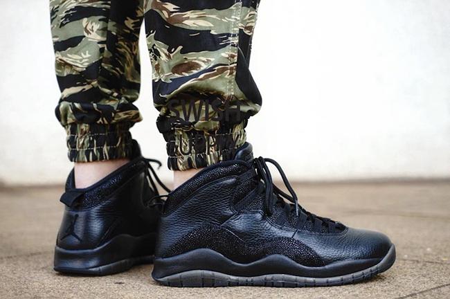 Air Jordan 10 OVO Black On Feet