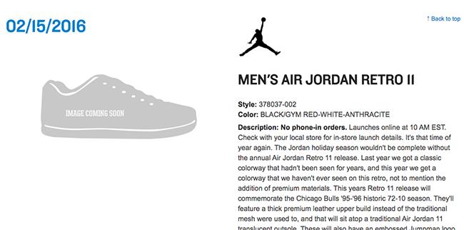 Air Jordan 11 72 10 Restock
