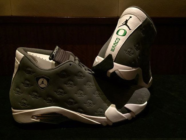 Air Jordan 14 Oregon Ducks PE