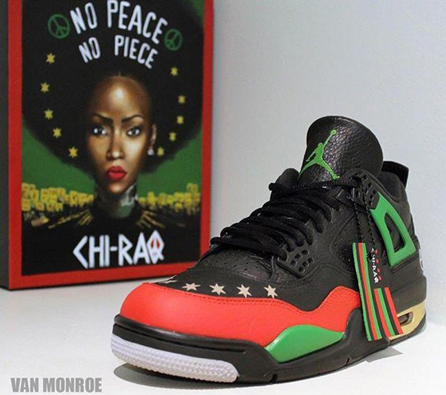 Air Jordan 4 Chi Raq Custom Spike Lee