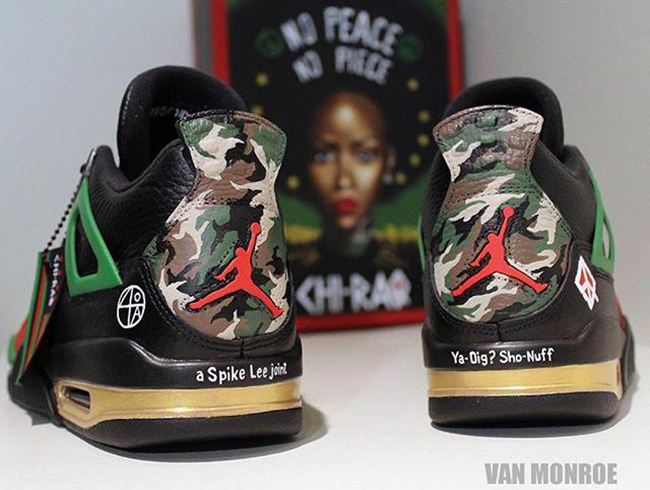 buy online 1d449 4396b Air Jordan 4 Chi Raq Custom Spike Lee | SneakerFiles