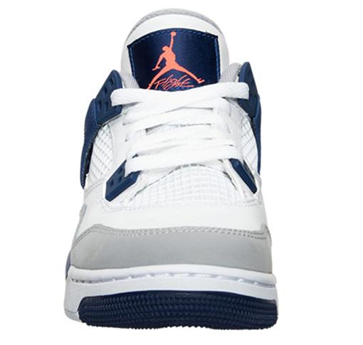 Air Jordan 4 GS Deep Blue White Orange