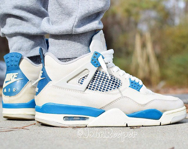 Air Jordan 4 Military Blue Retro 89 Nike Air 2019