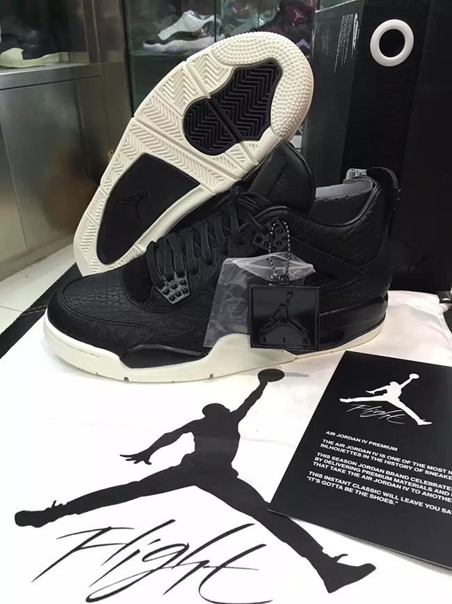 Air Jordan 4 Retro Premium Black