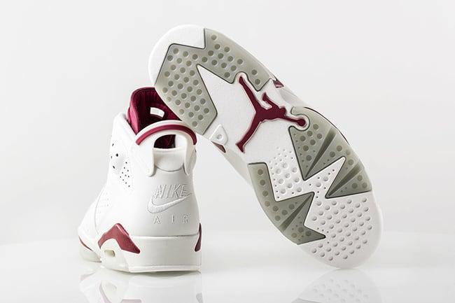 size 40 6fa82 e39c2 Air Jordan 6 Maroon Retro Release