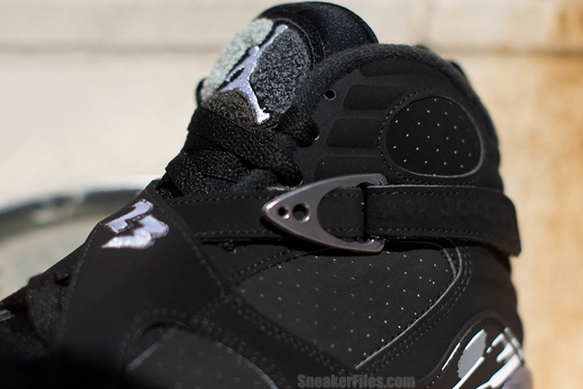 Air Jordan 8 Chrome Black Metallic 2015
