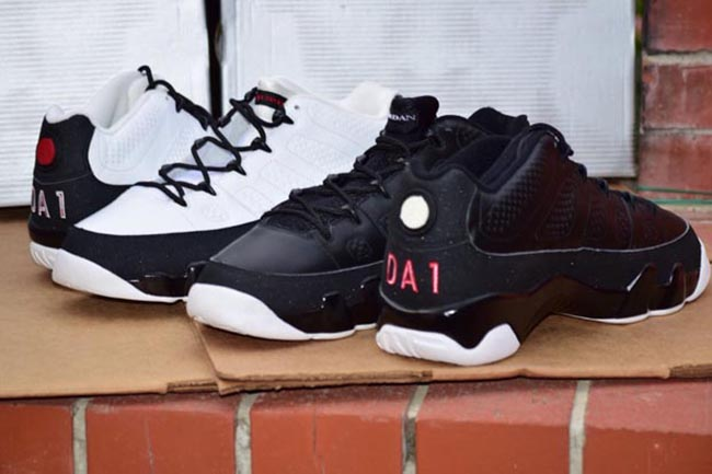 Air Jordan 9 Low Black White