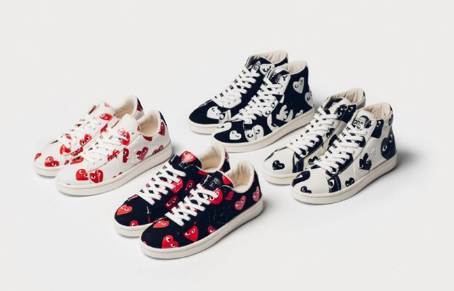 eb53bcab4578 Converse x Comme Des Garcons PLAY Pro Leather Collection 60%OFF ...