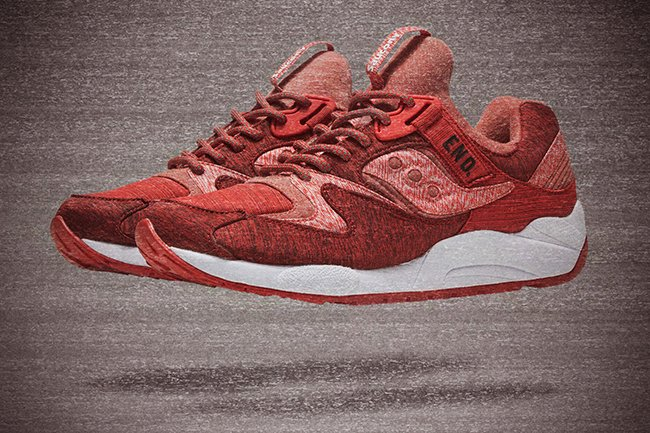 END Saucony Grid 9000 Red Noise