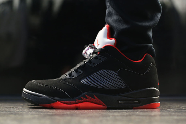 Air Jordan 5 Low Alternate On Feet
