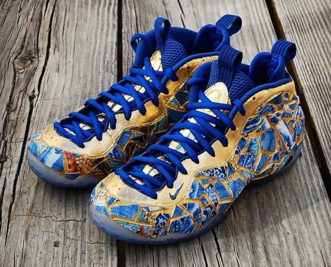 nike air foamposite one kintsugi custom sneakerfiles