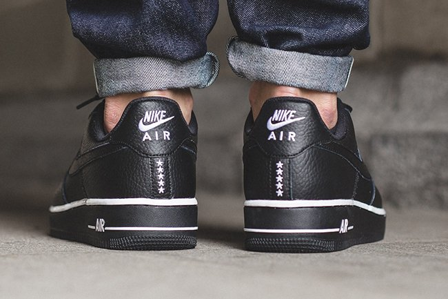 best website d83ea bdb62 Nike Air Force 1 Low Black Stars