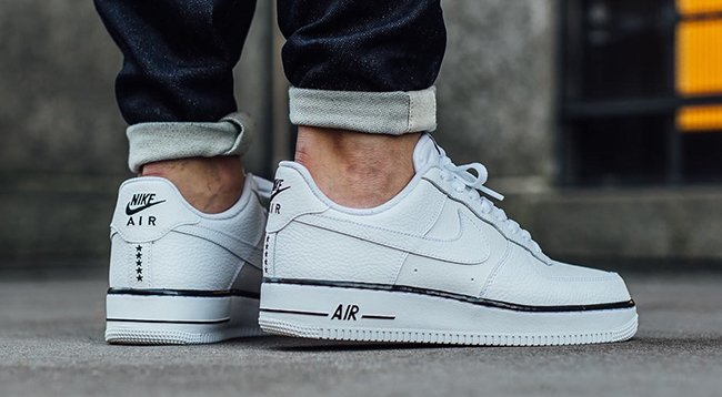 new product bc90f ab51c Nike Air Force 1 Low White Black Stars