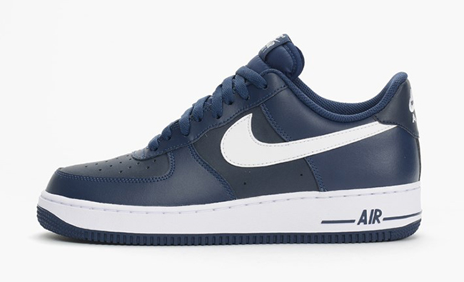 nike air force navy blue and white