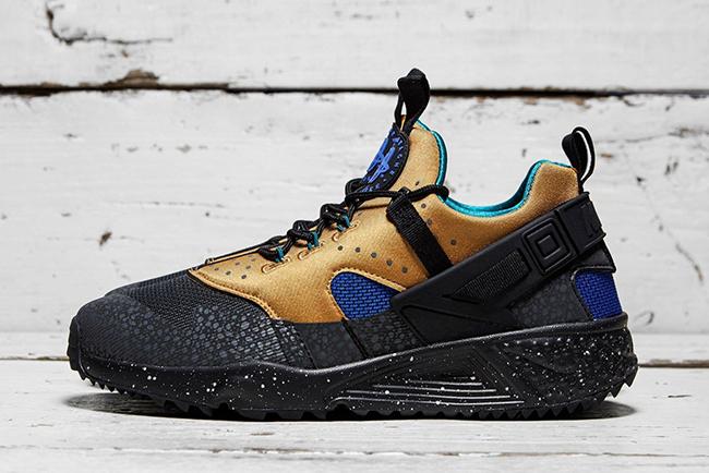 Nike Air Huarache Utility ACG Tan Blue | SneakerFiles