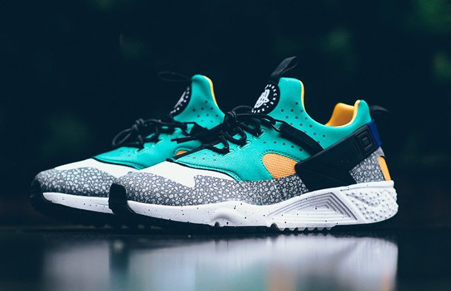 finest selection be908 d7402 Nike Air Huarache Utility Safari Emerald Green