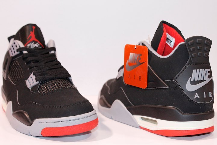 e749e56adbc5b0 Nike Air Jordan 4 Bred Black Red 2017