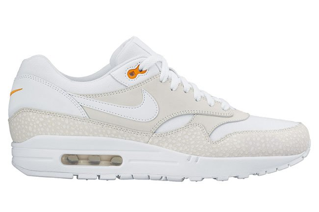 nike air max 1 white orange