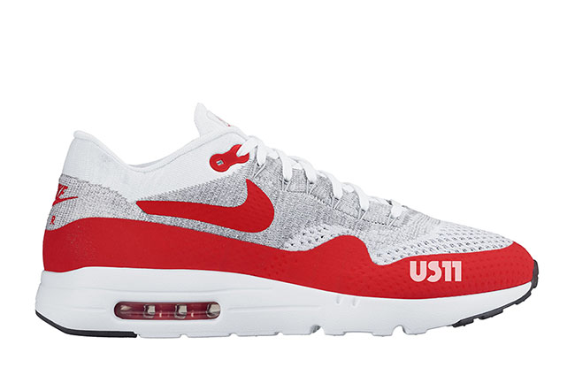 Nike Air Max 1 Ultra Flyknit White University Red